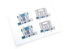 'DIE CUT' STICKERS for STAR WARS VINTAGE R2-D2  /  R2D2   2 IN TOTAL! THE BEST!