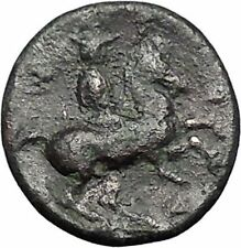Pharsalos in Thessaly 400Bc Athena Horseman Skylla Ancient Greek Coin i49249
