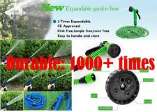 Lot of 4 Expandable Flexible Garden Hose with Spray Nozzle Choose 25 50 75 100FT