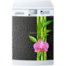 Magnet lave vaisselle Orchidée et Bambous 60x60cm réf 589 589