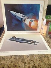 NORTH AMERICAN ROCKWELL Litho Prints LOT of 23, NASA Military Space .Rockets