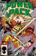 POWER PACK #18  SECRET WARS II  1986  Marvel Comic  fine ~
