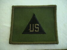 US  DoD Contractor Rank Set of 2 Sew On OD Green 2 3/4 X 2 3/4 New Military