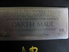 "Master Replicas Darth Maul Battle Damaged Lightsaber """"Artist Proof"" Star Wars"