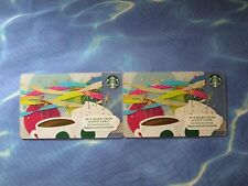 New for Sales - Starbucks Card - Celebration , Party style  ( total 2 cards )