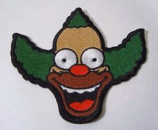 "KRUSTY THE CLOWN - The Simpsons - Embroidered Iron-On Patch 3.50"" NEW"