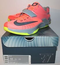 Nike Air KD 7 VI 35000 Degrees Pink Grey Volt Neon Sneakers Men's Size 12 New
