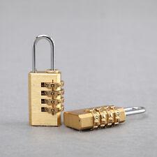 4 Digits Number Padlock Brass Combination Lock Password Code Password Lock