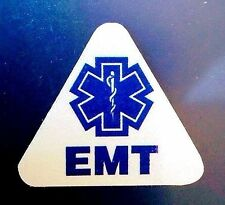 STAR OF LIFE EMT REFLECTIVE TRIANGLE DECAL - STAR OF LIFE EMT HELMET DECAL