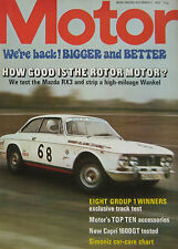 Motor magazine 9/12/1972 featuring Ford Capri 1600 GT, Mazda RX3 coupe road test