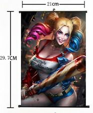 Hot Anime Suicide Squad Batman Harley Quinn Joker Decor Poster Wall Scroll C