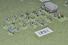 15mm ww2 german battle group 23 infantry 1 at gun & camion peint métal (1821)