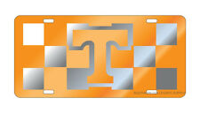 UT UNIVERSITY OF TENNESSEE Mirrored Checkerboard License Plate / Car  Tag