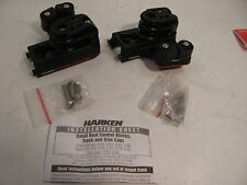 HARKEN 2743 small  BOAT DOUBLE  TRAVELER CONTROLS CONTROL BLOCKS W/ CAM