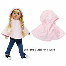 "SF Springfield PINK PONCHO for 18"" American Girl Dolls Jacket Coat Clothes NEW"