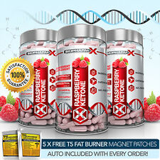 PURE RASPBERRY KETONE PILLS X3: MAX STRENGTH SLIMMING / DIET & WEIGHT LOSS PILLS