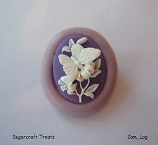 Gorgeous Butterfly Flower Cameo Silicone Mould, Sugarcraft, Cup Cake Card Topper