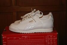 Womens Puma Roma Patent Leather PP Triple White Sz 7.5 or 9.5 Shoes