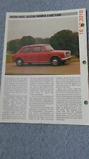 Austin Morris 1100 1300, 69 - 74 car data info sheet spec history pic car fix it
