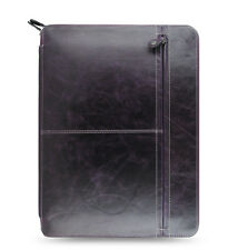 Filofax Malden Zipped Portfolio A4 Purple Leather- 828078