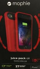 Original Mophie Pack Air Battery Case For Apple Iphone 7 Color: RED
