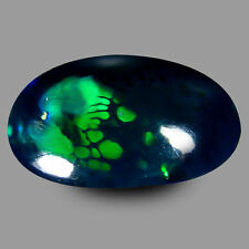 2.475 CTS FORMIDABLE TOP RED GREEN MULTI-CLR BLACK NATURAL ETHIOPIAN OPAL OVAL
