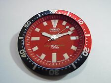 NEW SEIKO REPLACEMENT RED DIAL /HANDS/ BEZEL INSERT FOR SEIKO 7002 DIVER'S WATCH