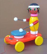 Ancien jouet à tirer EDUCALUX INDIENNE vintage jeu plastique & bois old toy