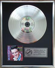 """Elvis Presley - Hits Like CD/Cover gerahmt + 12"""" Deko goldene Vinyl Schallplatte"""