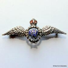 SILVER RAF Sweetheart Brooch Badge WW2 - THOMAS LYNTON MOTT - Royal Air Force 3