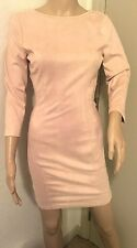 NWT*Hot Miami Styles*Sexy Faux Suede Open Back Dress*Size Small*Nude*So sexy*