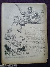 Dîner du Bon Bock 144 1888 Henri Pille Emile Goudeau  Poème illustrateur
