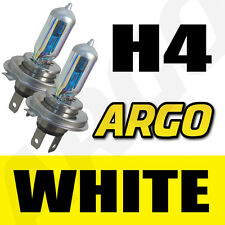 2 x XENON MEGA WHITE H4 12V SUPER BRIGHT HEADLIGHT BULB