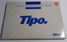 FIAT TIPO - LIBRETTO DI USO E MANUTENZIONE ORIGINALE DEL 1992 - OTTIMO!!!