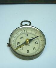 WWII ORIGINAL GERMAN BRASS FIELD COMPASS WORKING