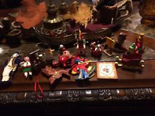 Lot Of 16 Vintage Christmas Ornaments Some Wooden