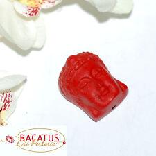 Chinalack Perle Buddha Kopf 24 x 19 x 16 mm rot 1x BACATUS