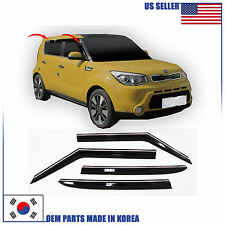 SMOKED DOOR WINDOW VENT VISOR DEFLECTOR (A174) KIA SOUL 2014 2015 2016