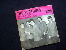 THE FORTUNES: HERE IT COMES AGAIN~ORIG. SINGLE + COVER~1965~DUTCH EDITION