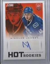 13-14 SCORE HOT ROOKIES NICKLAS JENSEN RC AUTO VANCOUVER CANUCKS