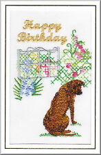 Rhodesian Ridgeback Birthday Card Embroidered by Dogmania  FREE PERSONALISATION