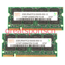 Hynix 4GB 2X 2GB PC2-5300 DDR2-667Mhz240PIN SODIMM Laptop Memory RAM Unbuffered