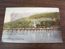 ELMIRA N.Y. BRIDGE TO RORICK'S GLEN (AMUSEMENT PARK) - POST CARD - USED - 1907