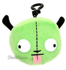 NEW GREEN ALIEN INVADER ZIM ROBOT GIR IN DISGUISE DOG EARS HEAD PLUSH CLIP ON