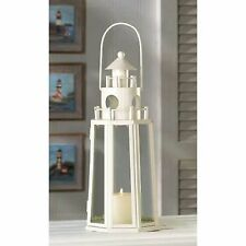 "15 IVORY Tone CANDLE LANTERN Table Decor WEDDING CENTERPIECES 13"" Tall"