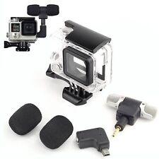Seitenöffnung Skeleton Gehäuse Case Mikrofon Adapter Kit für GoPro Hero 4 3+