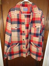 VTG Pendleton 100% Virgin Wool Hunting Barn Jacket Coat Men's Sz. M Plaid