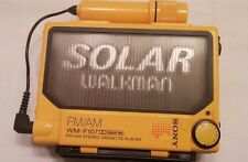 Original Adult Owned SONY WM-F107 Solar Walkman Cassette Player AM/FM Radio