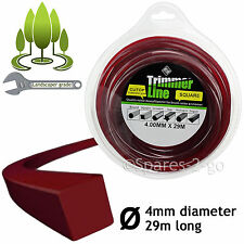 4.0mm Square Strimmer Line 29m Heavy Duty Spool Refil for STIHL Strimmers 4mm