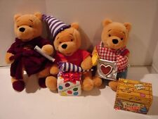LOT 3 WINNIE THE POOH PLUSH TEDDY BEARS WALT DISNEY CO MOTHER'S & FATHER'S DAY